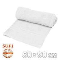 Полотенце махровое, лицевое SUFI (Индия), белый
