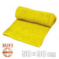 Полотенце махровое, лицевое SUFI (Индия), желтый