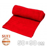 Полотенце махровое, лицевое SUFI (Индия), красный