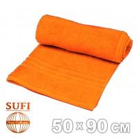 Полотенце махровое, лицевое SUFI (Индия), оранжевый