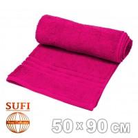 Полотенце махровое, лицевое SUFI (Индия), фуксия
