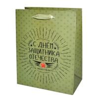 """Пакет подарочный """"С днём защитника Отечества"""""""