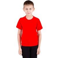 """Футболка подростковая """"Далматинец"""", однотонная, цвет красный"""