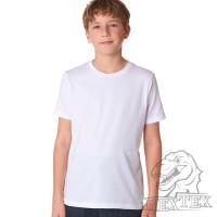 Футболка подростковая, однотонная, цвет белый (RexTex)