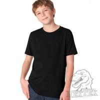 Футболка подростковая, однотонная, цвет черный (RexTex)