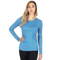 Футболка женская с длинным рукавом (голубой)