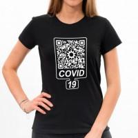 """Футболка женская """"Covid 19"""" QR-Code"""