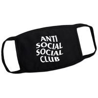 """Маска на лицо от вирусов """"AntiSocialClub"""" (многоразовая)"""