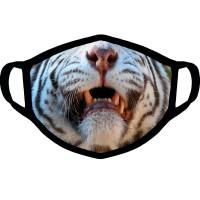 "Маска от вирусов с рисунком ""Белый тигр"""