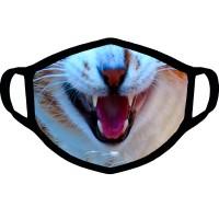 """Маска от вирусов с рисунком """"Оскал кошки"""""""