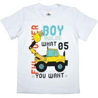 "Футболка детская ""Boy builds what you want"" для мальчика"