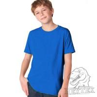 Футболка подростковая, однотонная, цвет синий (RexTex)