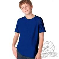 Футболка подростковая, однотонная, цвет темно-синий (RexTex)