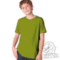 Футболка подростковая, однотонная, цвет хаки (RexTex)