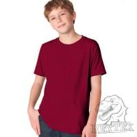 Футболка подростковая, однотонная, цвет бордовый (RexTex)