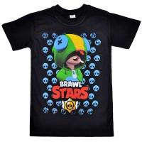 "Футболка подростковая ""Brawl Stars - Leon"" (черный)"