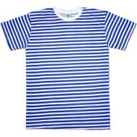 """Тельняшка-футболка """"Браво"""" (синяя полоса)"""