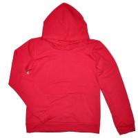 Толстовка Кенгуру с капюшоном и карманами женская (красный)