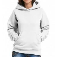 Толстовка Кенгуру с капюшоном и карманами женская (белый)