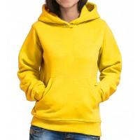 Толстовка Кенгуру с капюшоном и карманами женская (желтый)
