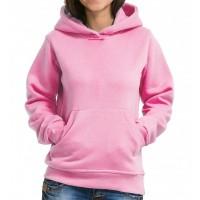 Толстовка Кенгуру с капюшоном и карманами женская (розовый)