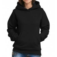 Толстовка Кенгуру с капюшоном и карманами женская (черный)