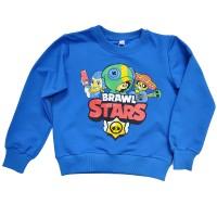 """Свитшот детский """"Brawl Stars - Leon"""" для мальчика (синий)"""