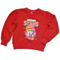 "Свитшот детский ""Brawl Stars - Sandy"" для девочки (красный)"
