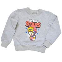 """Свитшот детский """"Brawl Stars - Sandy"""" для девочки (светло-серый)"""