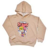 "Толстовка детская ""Brawl Stars - Sandy"" для девочки (бежевый)"