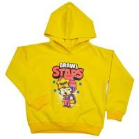 """Толстовка детская """"Brawl Stars - Sandy"""" для девочки (желтый)"""