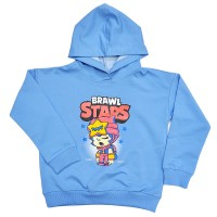 "Толстовка детская ""Brawl Stars - Sandy"" для девочки (голубой)"