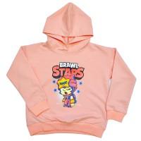 """Толстовка детская """"Brawl Stars - Sandy"""" для девочки (персиковый)"""