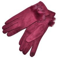 Перчатки женские для сенсорных экранов -3 (red)