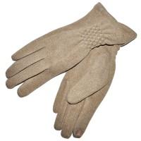 Перчатки женские для сенсорных экранов -4 (beige)