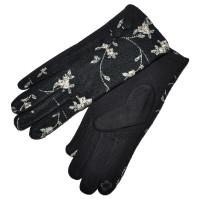 Перчатки женские для сенсорных экранов -5 (black)