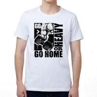 "Футболка с принтом, мужская ""Go Heavy or Go Home"""