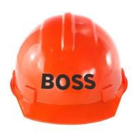 """Строительная каска с надписью """"BOSS"""""""