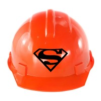 """Строительная каска с надписью """"SuperMan"""""""