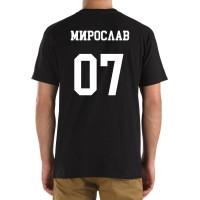 Футболка с номером и именем Мирослав (на спине)