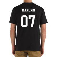 Футболка с номером и именем Максим (на спине)