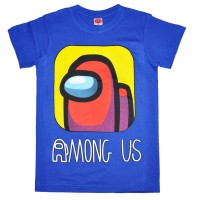 "Футболка подростковая ""Among Us"" (синий)"