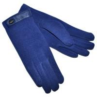 Перчатки женские, трикотажные -46 (синий)