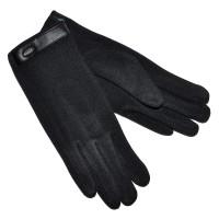 Перчатки женские, трикотажные -46 (черный)