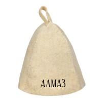 Шапка для бани с именем Алмаз