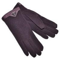 Перчатки женские для сенсорных экранов -6 (темно-фиолетовый)