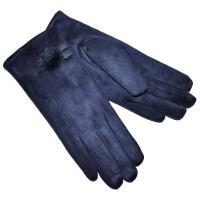 Перчатки женские, трикотажные -47 (темно-синий)