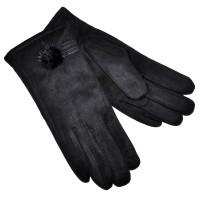 Перчатки женские, трикотажные -47 (черный)