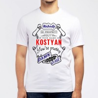 "Футболка мужская ""If your name is Kostyan, you are pretty…"""