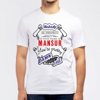 """Футболка мужская """"If your name is Mansur, you are pretty…"""""""